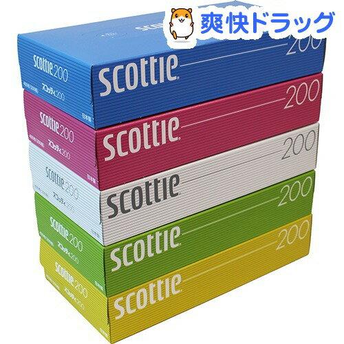 スコッティ ティシュー カラーデザイン ボックス(400枚(200組)*5コ入)【スコッティ(SCOTTIE)】