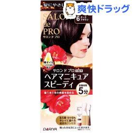 サロンドプロ 白髪用 ヘアマニキュア・スピーディ 6 ダークブラウン(1セット)【サロンドプロ】[白髪隠し]