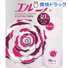 エルモア トイレットロール ピンクダブル 花の香り 30m(18ロール)【エルモア】