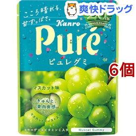 カンロ ピュレグミ マスカット味(56g*6コセット)【ピュレグミ】