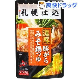札幌仕込 濃厚 豚がらみそ 鍋つゆ(750g)【ベル食品】
