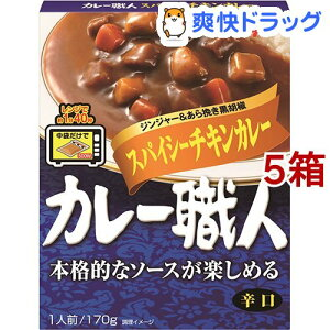 カレー職人 スパイシーチキンカレー 辛口(170g*5箱セット)【カレー職人】