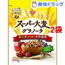 【訳あり】【贅沢果実サンプル付き】日清シスコ スーパー大麦グラノーラ(200g*2コセット)