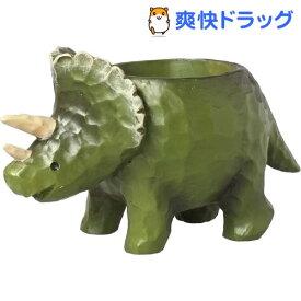 グリーンハウス ミニミニレジンポット トリケラトプス 3834-B(1コ入)【グリーンハウス(ガーデニング用品)】