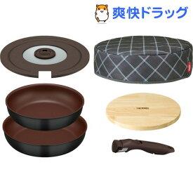 サーモス 取っ手のとれるフライパン KFA-SET6 ブラック 6点セット(1セット)【サーモス(THERMOS)】