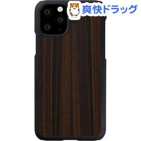 マン&ウッド iPhone 11 Pro Max 天然木ケース Ebony I16854i65R(1個)【マン&ウッド(Man&Wood)】