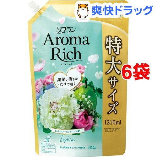 ソフラン アロマリッチ ソフィア ピュアフローラルアロマの香り 詰替用特大(1210mL*6コセット)【ソフラン】
