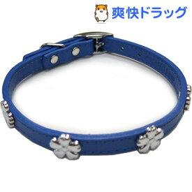 ダブルレザーカラーフラワー 青 Mサイズ(1コ入)