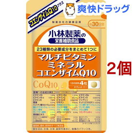 小林製薬の栄養補助食品 マルチビタミン ミネラル コエンザイムQ10 約30日分 120粒(120粒入*2コセット)【小林製薬の栄養補助食品】