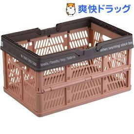 PRX 折りたたみバスケット ハンドル付 Mブラウン(1コ入)【プロフィックス】