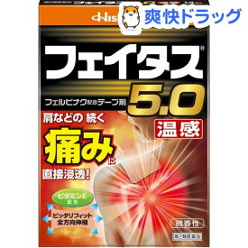 【第2類医薬品】フェイタス5.0 温感(セルフメディケーション税制対象)(14枚入)【フェイタス】