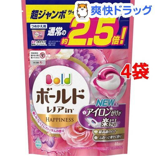 ボールド 洗濯洗剤 ジェルボール3D 癒しのプレミアムブロッサムの香り 詰替超ジャン(44コ入*4コセット)【ボールド】【送料無料】
