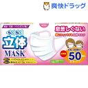トプラン らくらく立体マスク 女性・子供用サイズ(50枚入)【トプラン】