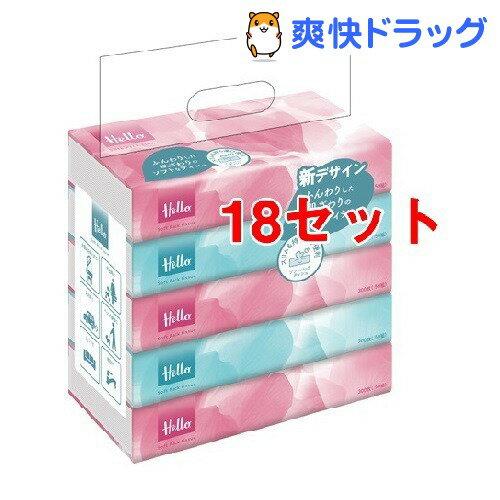 ハロー ソフトパックティッシュ(300枚(150組)*5コ入*18コセット)【ハロー】【送料無料】