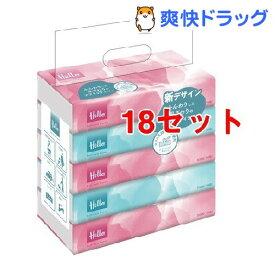 ハロー ソフトパックティッシュ(300枚(150組)*5コ入*18コセット)【ハロー】