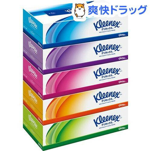 【試供品付き】クリネックス ティシュー(180組*5箱パック)【クリネックス】