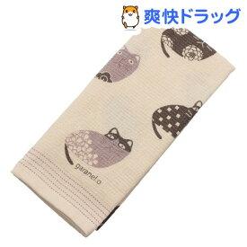 今治産 フェイスタオル 布ごよみ 柄ねこ サーモンピンク(1枚入)