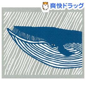 e.スポンジワイプ カタカタ くじら ブルー/グレー 水切り WX230018(1枚)【e.スポンジワイプ】