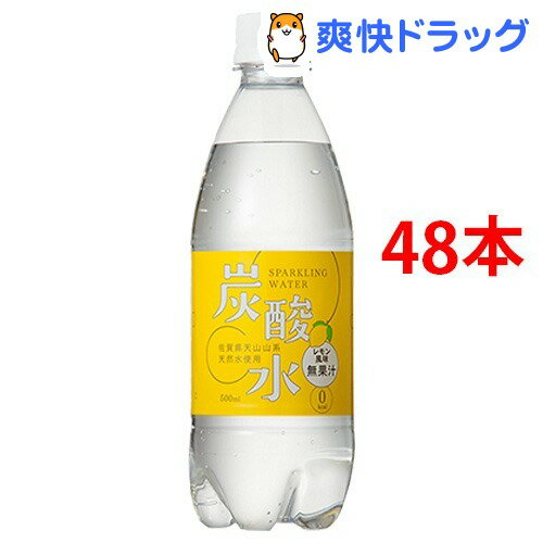 国産 天然水仕込みの炭酸水 レモン(500mL*48本入)[炭酸水 500ml 国産 強炭酸水]【送料無料】