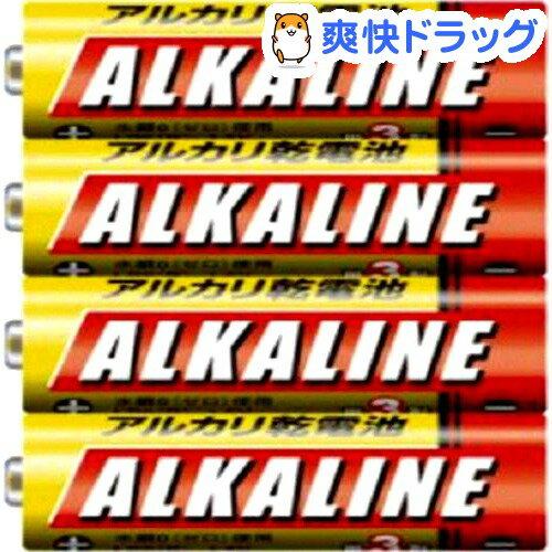 三菱 アルカリ乾電池 単3形 4本パック LR6R/4S(1セット)