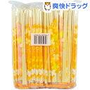 大和物産 ポリ完封 割り箸 フラワーオレンジ 個包装(100膳入)