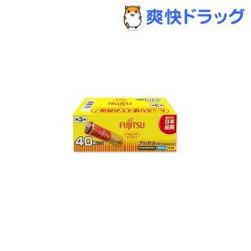 富士通 アルカリ乾電池 単3 40本パック ロングライフ(1セット)
