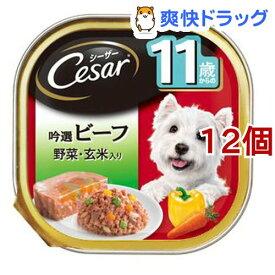 シーザー 11歳からの吟選ビーフ 野菜・玄米入り(100g*12個セット)【シーザー(ドッグフード)(Cesar)】[ドッグフード]