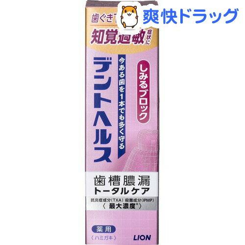 デントヘルス 薬用ハミガキ しみるブロック(85g)【デントヘルス】
