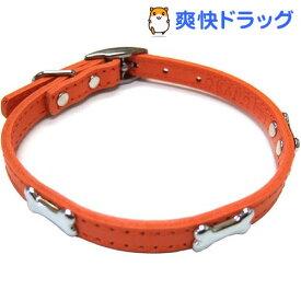 ダブルレザーカラーボーン オレンジ Lサイズ(1コ入)