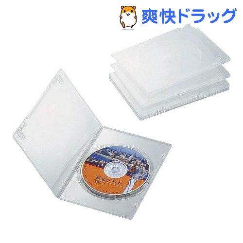 エレコム スリムDVDトールケース CCD-DVDS02CR(5コ入)【エレコム(ELECOM)】