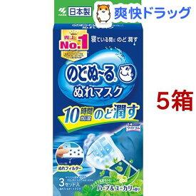 のどぬ〜る ぬれマスク 就寝用 ハーブ&ユーカリの香り(3組*5コセット)【のどぬ〜る(のどぬーる)】