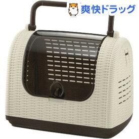 リッチェル ラタンキャリー アイボリー(1個)【リッチェル(ペット)】
