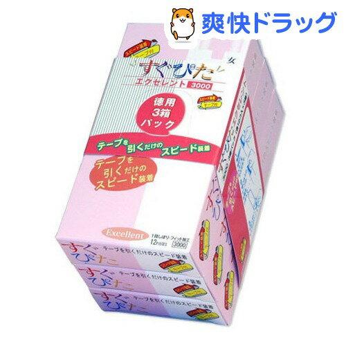 コンドーム/ジャパンメディカル すぐぴた エクセレント 3000(12コ入*3パック)【すぐぴた】【送料無料】