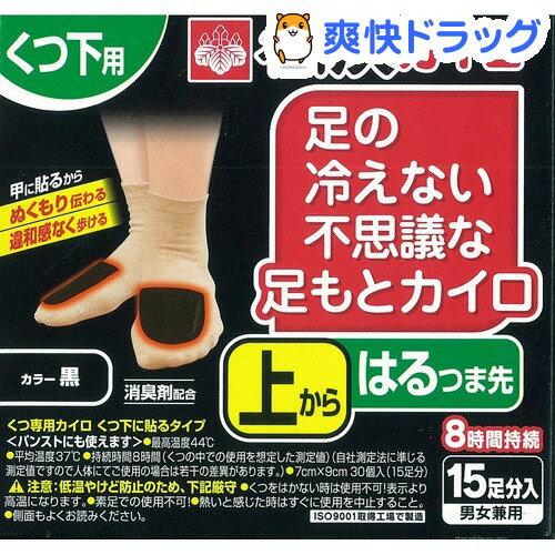 足の冷えない不思議な足もとカイロ 上からはるつま先 黒(15足分)