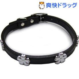 ダブルレザーカラーフラワー 黒 Mサイズ(1コ入)