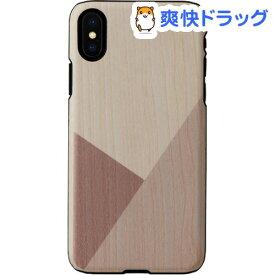 マンアンドウッド iPhone XS/X 天然木ケース チューリップ I13862i58(1個)【マン&ウッド(Man&Wood)】