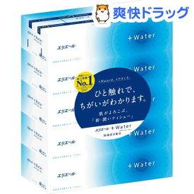 エリエール プラスウォーター(+Water) ティシュー(5箱パック*10コセット)【プラスウォーター(+Water)】