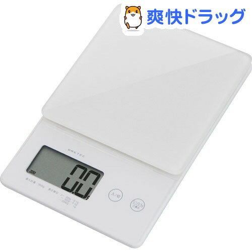 ドリテック デジタルスケール ストリーム 2kg ホワイト KS-245WT(1セット)【ドリテック(dretec)】