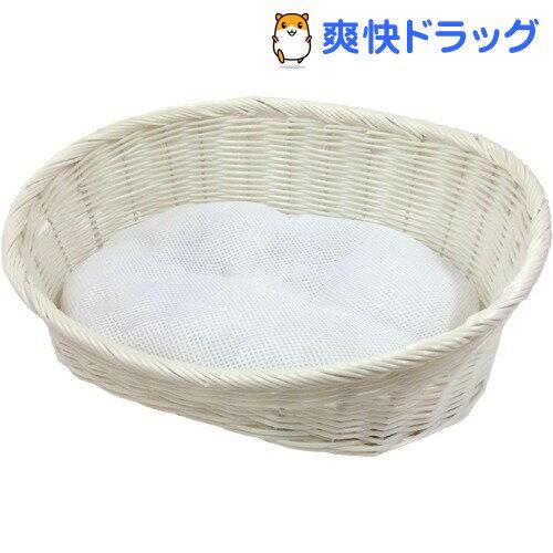 ペットプロ 手編みカラーベッド Sサイズ ホワイト(1コ入)【ペットプロ(PetPro)】