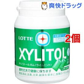【訳あり】ロッテ キシリトール ライムミント メガボトル(290g*2個セット)【キシリトール(XYLITOL)】