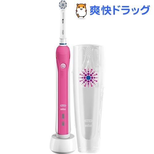 ブラウン オーラルB 電動歯ブラシ PRO2000 プロヴァンスピンク D5015132XPKN(1台入)【ブラウン オーラルBシリーズ】