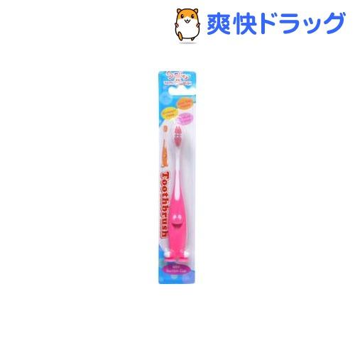 スマイリー歯ブラシ ふつう ピンク(1本入)