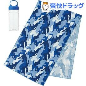 接触冷感タオル ケース付き OUTWARD ブルー(1個)【スケーター】