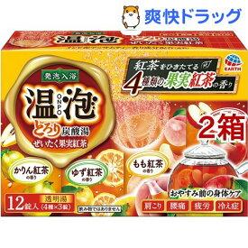 温泡 入浴剤 とろり炭酸湯 ぜいたく果実紅茶(45g*12錠*2箱セット)【温泡】