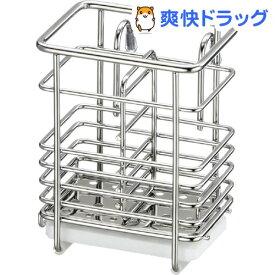 Karari+ワイヤー 箸立て 小 珪藻土トレー付 HO1866(1セット)【Karari】