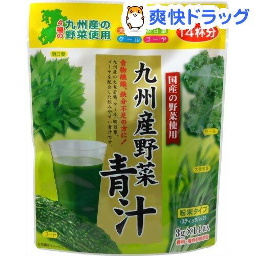 九州産野菜青汁 粉末タイプ(3g*14袋入)【芙蓉薬品】