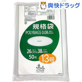 オルディ ポリバッグ 規格袋 13号 0.08mm 透明 L08-13(50枚入)【オルディ】