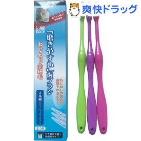 磨きやすい歯ブラシ ねじねじ先細毛 ふつう LT-120(3本入)