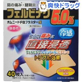 【第2類医薬品】オムニードFBプラスターα(セルフメディケーション税制対象)(8枚*5袋入)【オムニード】