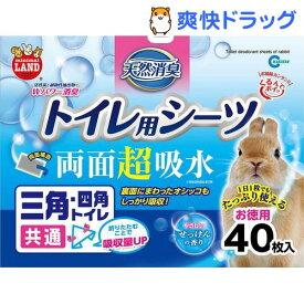 ミニマルランド 天然消臭 トイレ用シーツ(40枚入)【ミニマルランド】